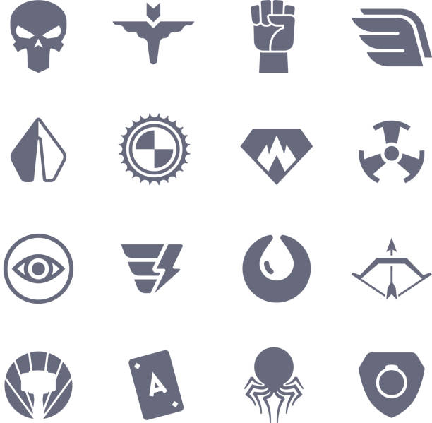 Royalty Free Superhero Logo Creator Clip Art Vector Images