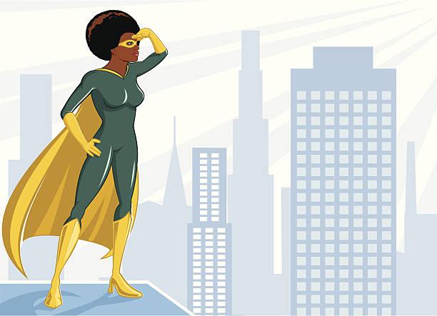 ilustrações de stock, clip art, desenhos animados e ícones de superheroine - afro latino mask