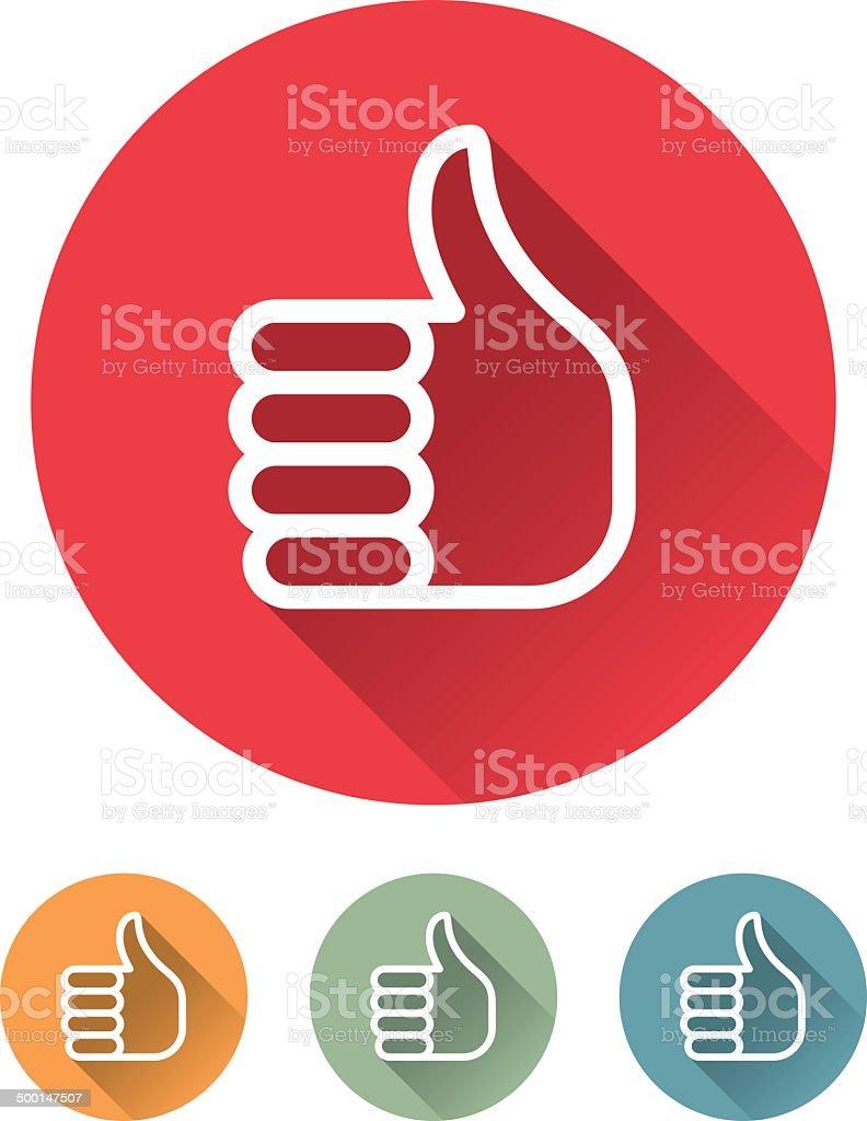 Superlight Flat Design Interface Thumbs Up Icon vector art illustration