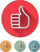 Superlight Flat Design Interface Thumbs Up Icon