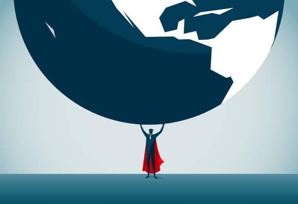 superman - superhero - ratunek stock illustrations