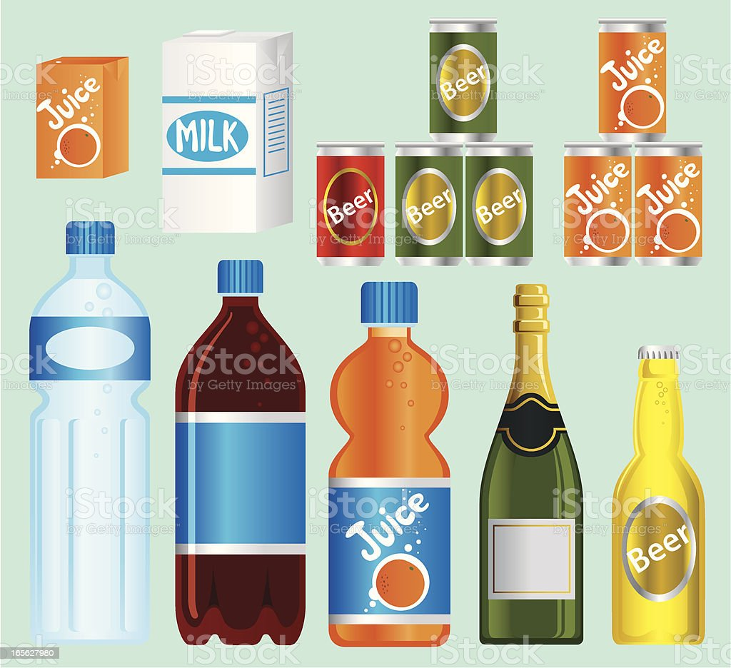 Supermarket— Beverage Series vector art illustration
