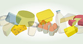 Supermarket Dairy Products