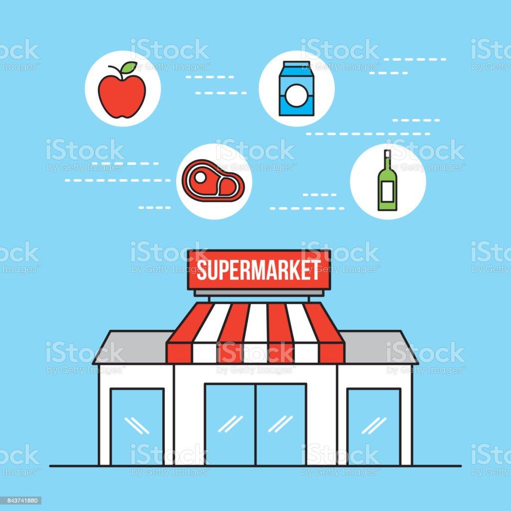 Supermarkt Lebensmittel Und Shop Lebensmittel Und Getränke Stock ...
