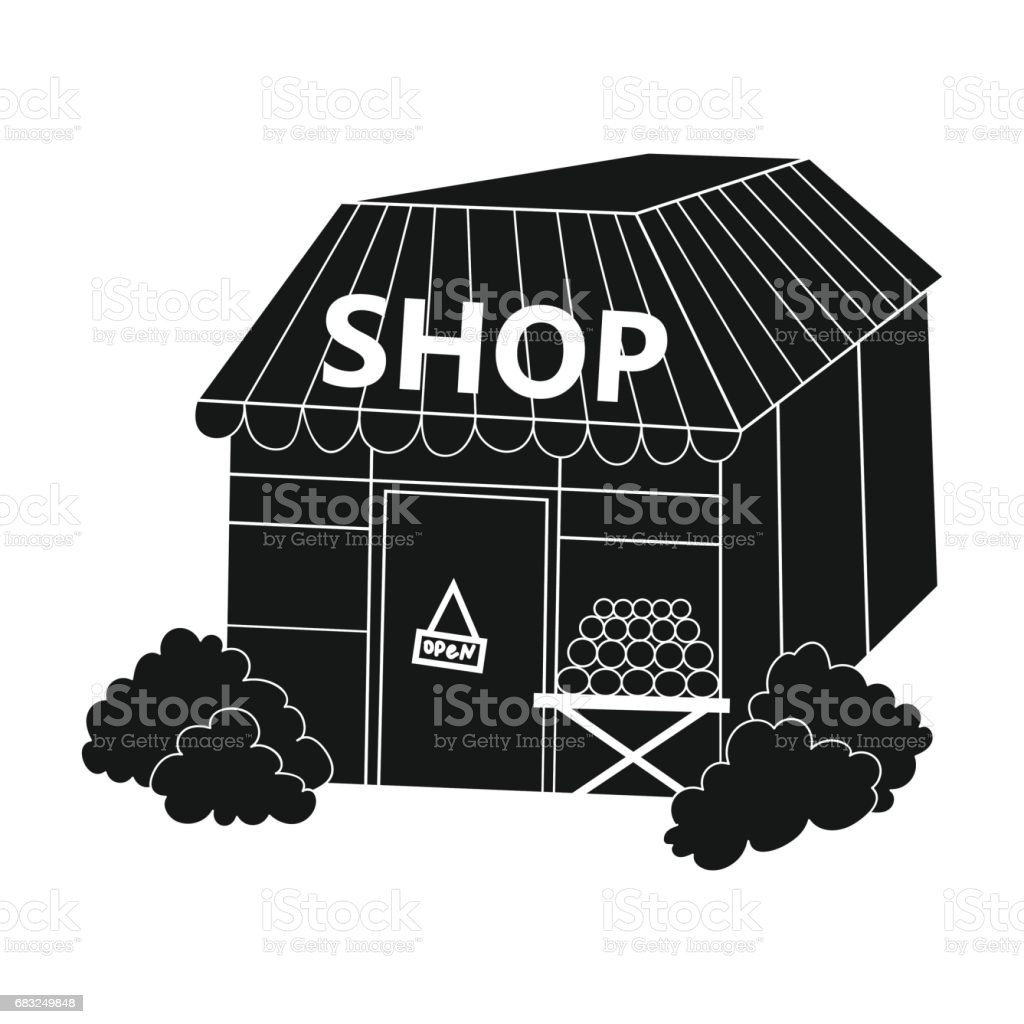 Supermarket icon in black style isolated on white background. Supermarket symbol stock vector illustration. royalty-free supermarket icon in black style isolated on white background supermarket symbol stock vector illustration 고객에 대한 스톡 벡터 아트 및 기타 이미지
