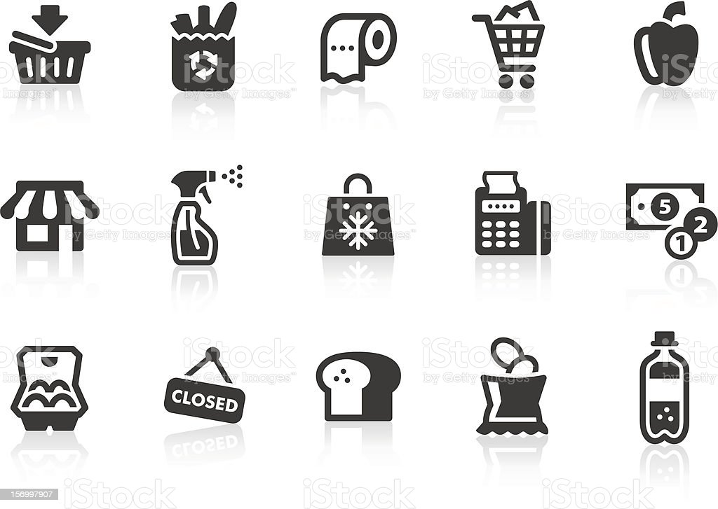 Supermarket icons vector art illustration