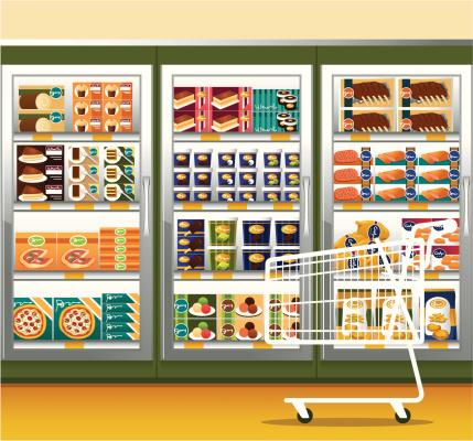 Supermarket & shopping cart
