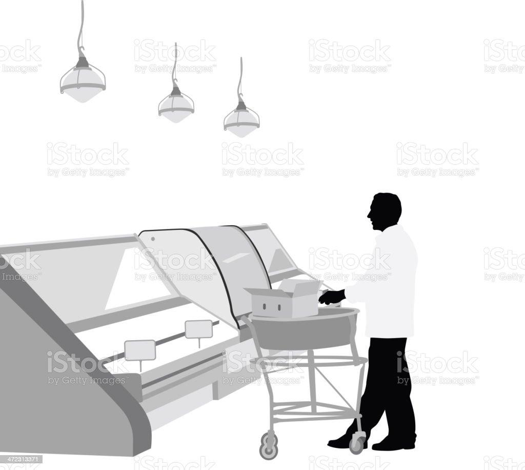 Supermarket royalty-free stock vector art