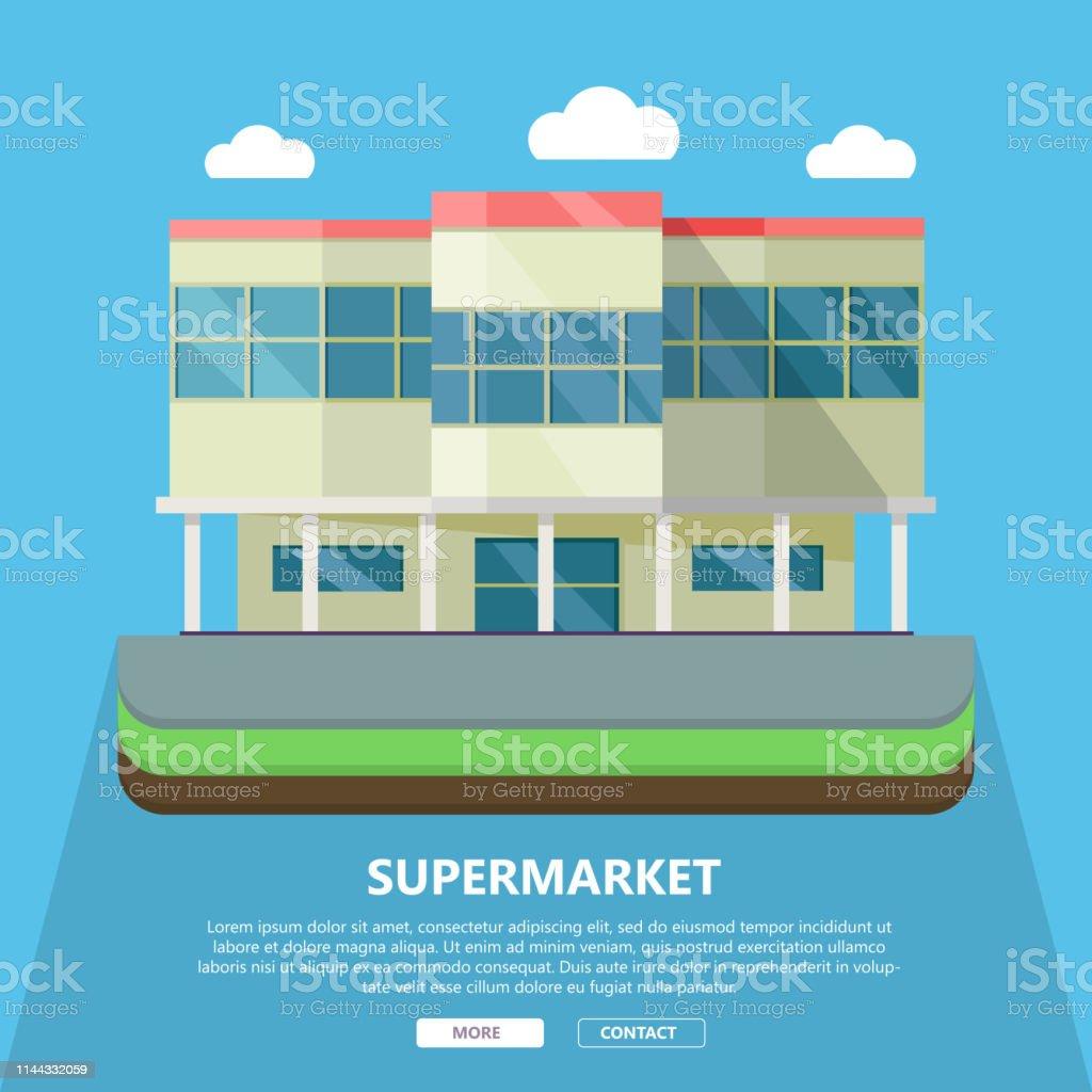 Vetores De Molde Do Web Do Supermercado No Projeto Liso E