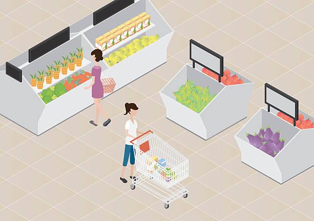supermarket_002 - schrankkorb stock-grafiken, -clipart, -cartoons und -symbole