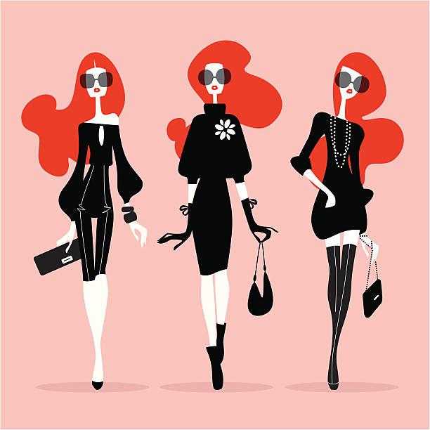 スーパーモデル(モデル) - 女性のファッション点のイラスト素材/クリップアート素材/マンガ素材/アイコン素材