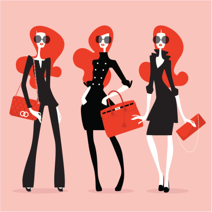 Supermodelle Alta Moda - Immagini vettoriali stock e altre immagini di Adulto