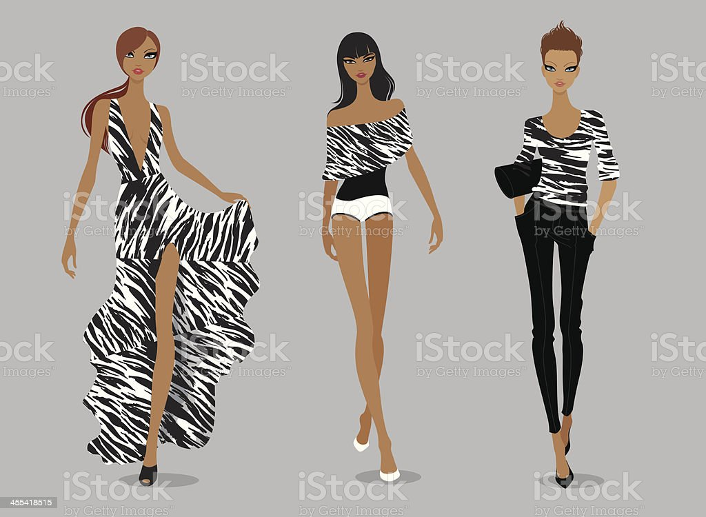 Supermodels vector art illustration