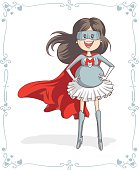 Supermom Character and Card Vector Design