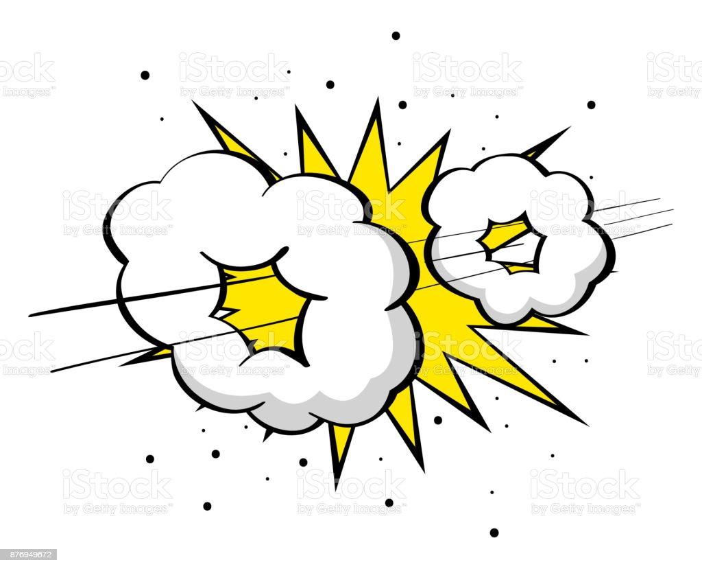 Supersonic boom vector art illustration