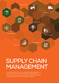 Supply Chain Management. Brochure Template Layout, Cover Design