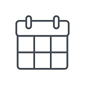 Support Contacts Work Service Line Icon Calendar