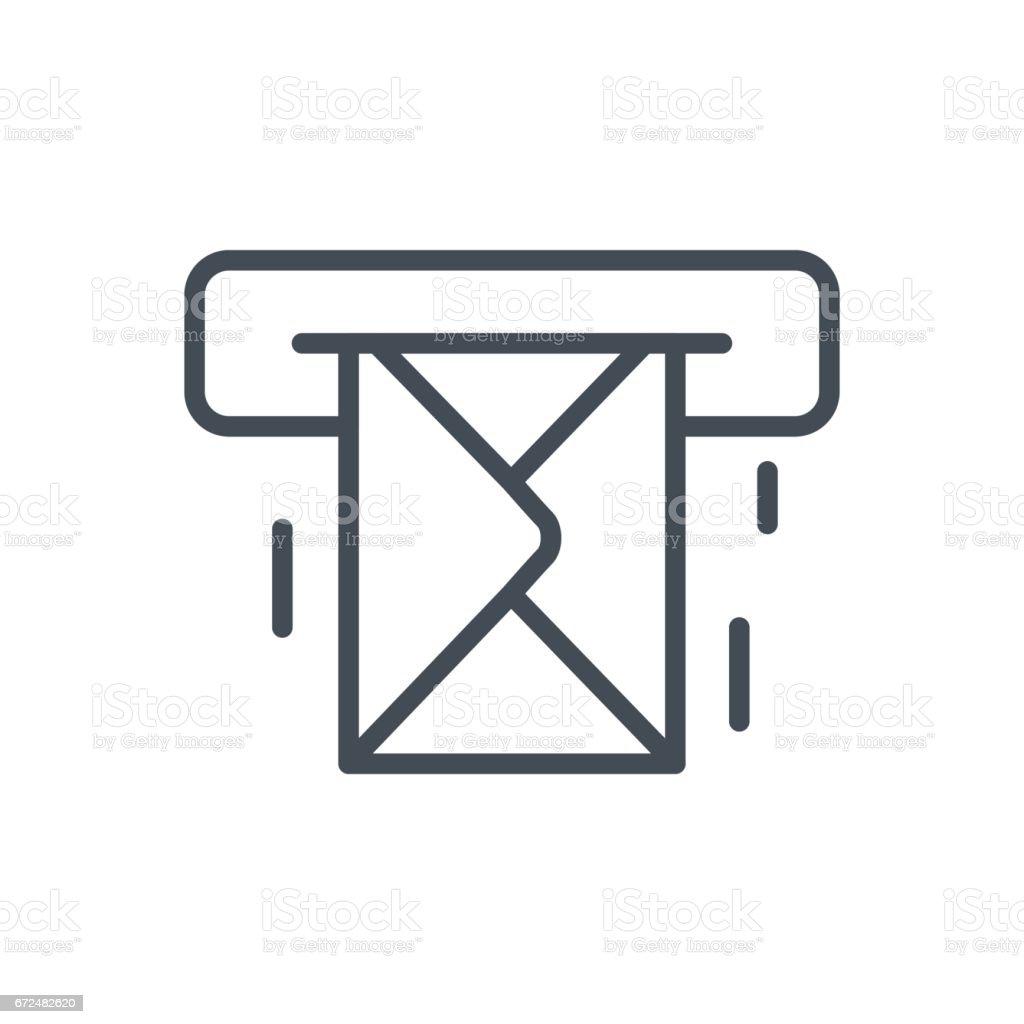 Support für Kontakte Arbeit Service-Line Symbol E-Mail-Nachricht – Vektorgrafik
