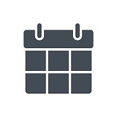 Support Contacts Work Service Silhouette Icon Calendar