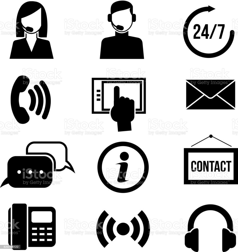 support customer service call center and telemarketing vector icons stock vector art  u0026 more