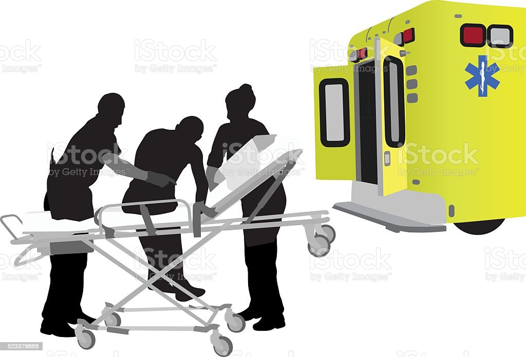 Support From Emergency Worker vector art illustration