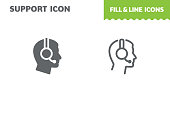 Support  icon, vector. Fill and line. Flat design. Ui icon