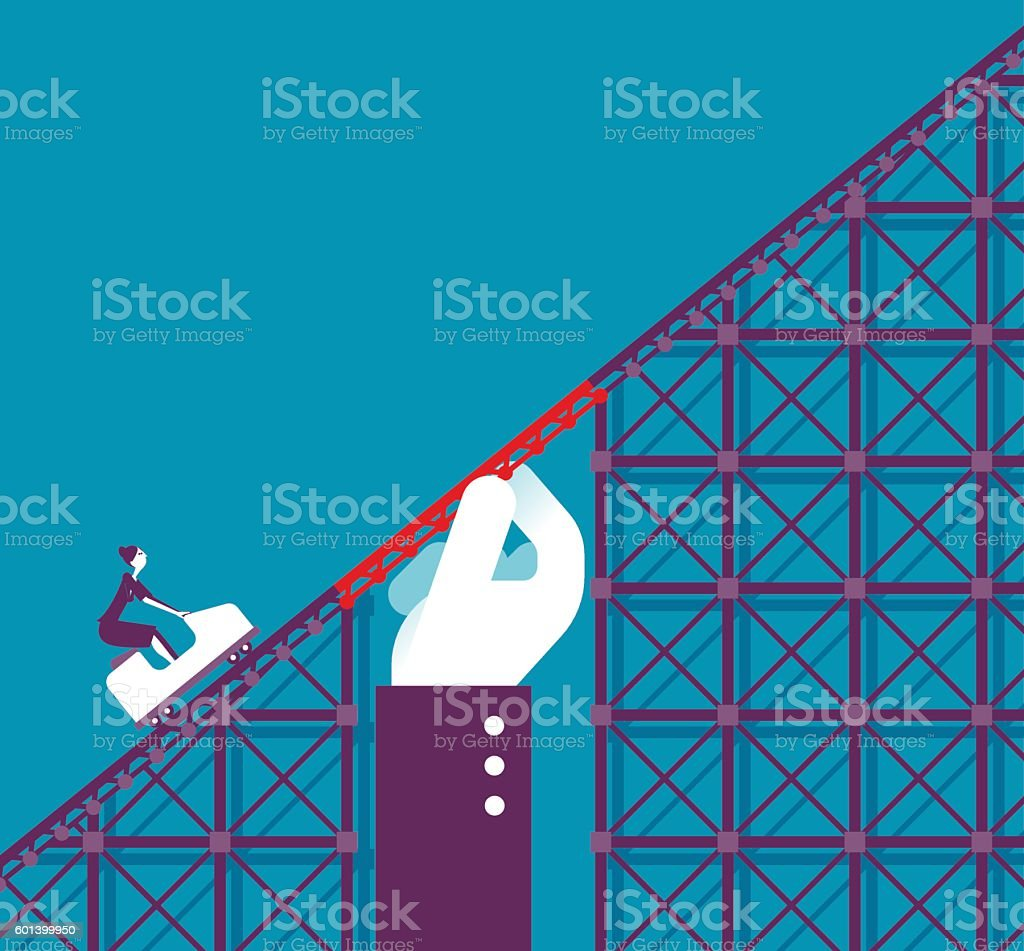 Support in a Roller coaster vector art illustration
