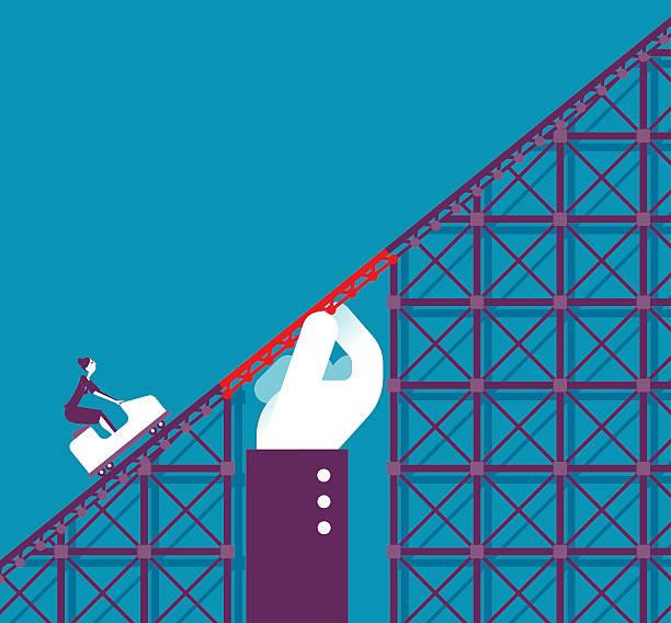 ilustraciones, imágenes clip art, dibujos animados e iconos de stock de support in a roller coaster - roller coaster