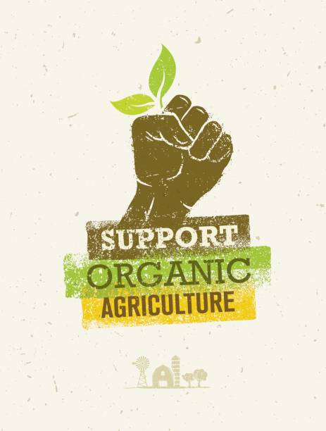 Support Local Farmers. Creative Organic Eco Vector Illustration on Recycled Paper Background Support Local Farmers. Creative Organic Eco Vector Illustration on Recycled Paper Background. community borders stock illustrations