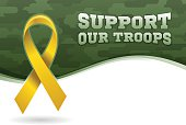 Support our troops military ribbon background. EPS 10 file. Transparency effects used on highlight elements.