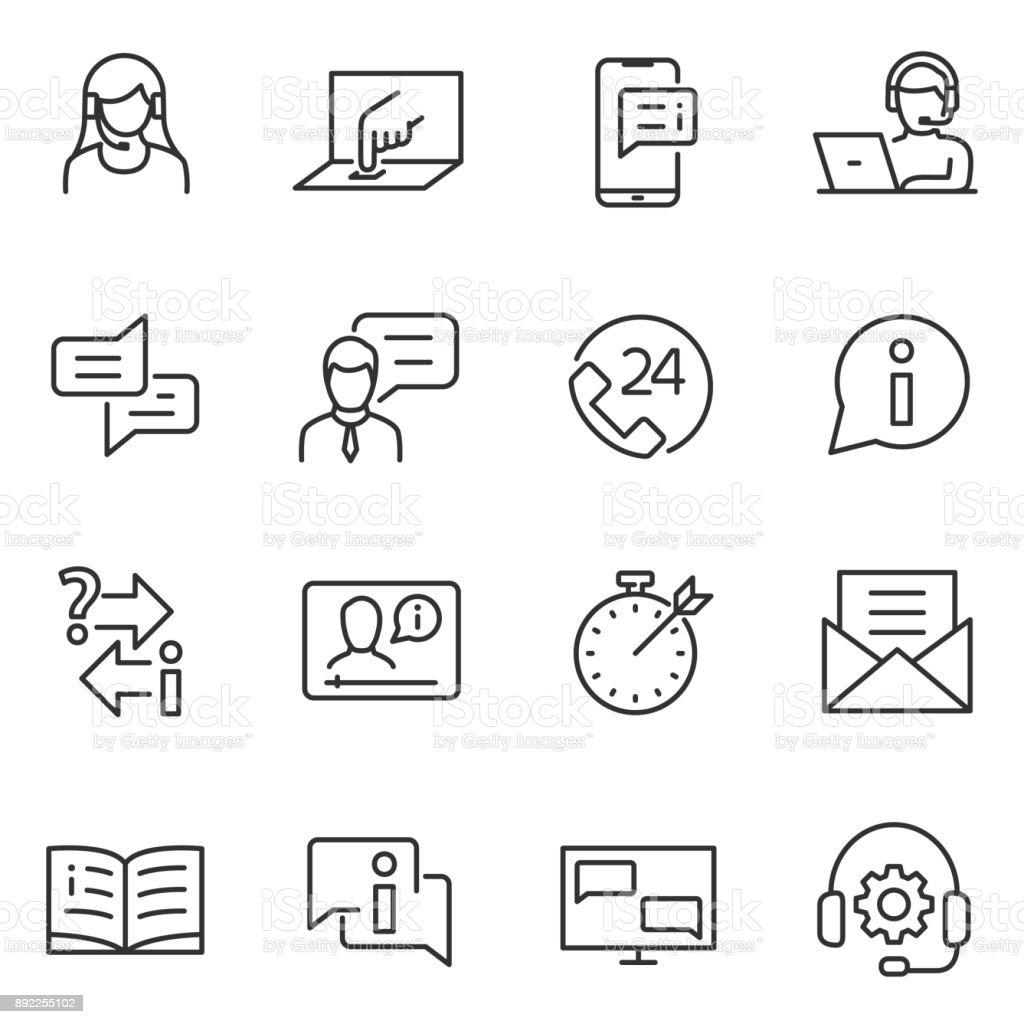 リニア ・ サービスのアイコンをサポートします。編集可能なストロークとラインします。 ロイヤリティフリーリニア サービスのアイコンをサポートします編集可能なストロークとラインします - it技術者のベクターアート素材や画像を多数ご用意