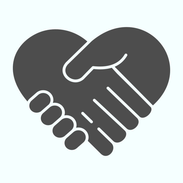 Support solid icon. Handshaking forming a heart vector illustration isolated on white. Two hands support each other glyph style design, designed for web and app. Eps 10. Support solid icon. Handshaking forming a heart vector illustration isolated on white. Two hands support each other glyph style design, designed for web and app. Eps 10 human internal organ stock illustrations