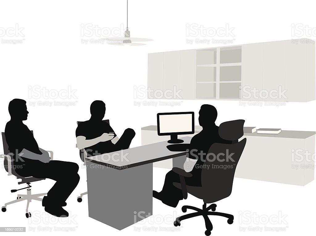 Support Team vector art illustration