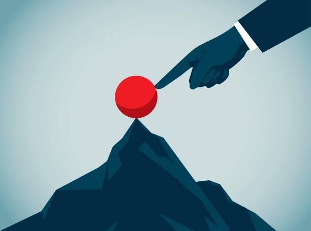 destek - mountain top stock illustrations