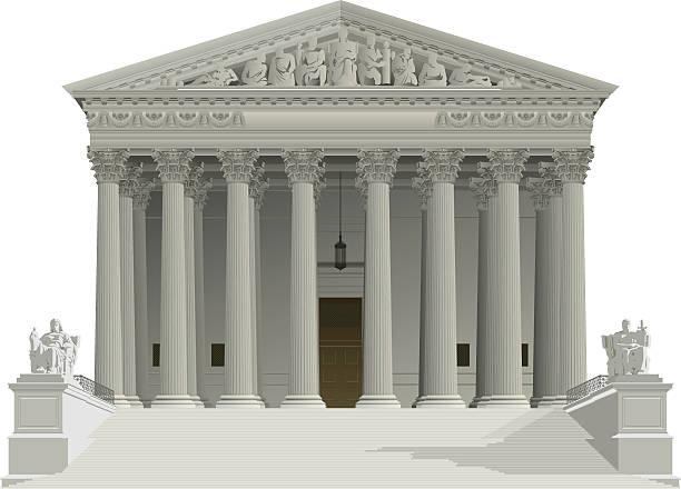 us supreme court building - supreme court stock illustrations