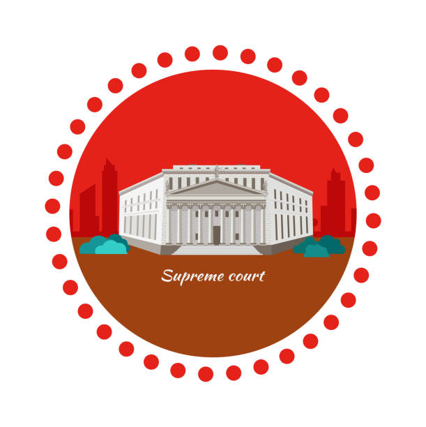 supreme court concept icon flat design - supreme court 幅插畫檔、美工圖案、卡通及圖標