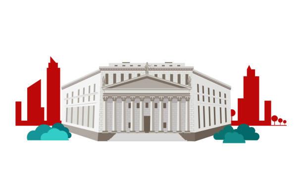 yargıtay kavramı simgesi düz tasarım - supreme court stock illustrations