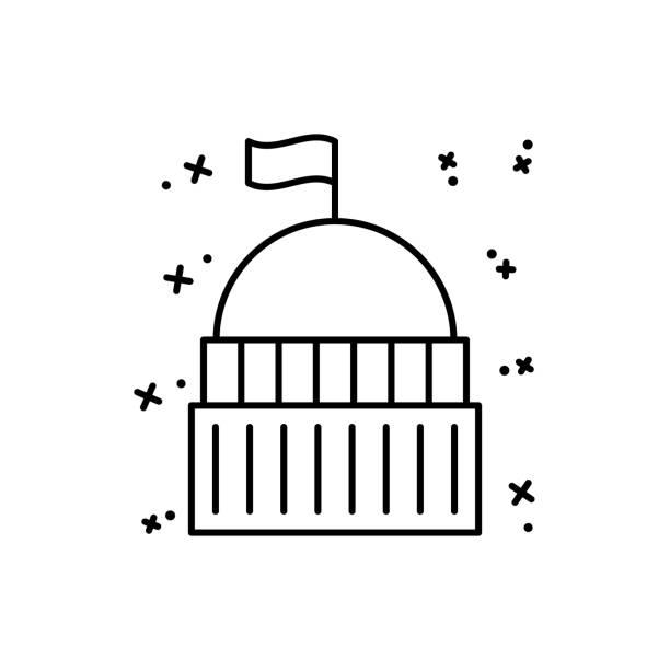 yargıtay simgesi. ui ve ux, web sitesi veya mobil uygulama için basit çizgi, hukuk ve adalet simgeleri anahat vektör - supreme court stock illustrations