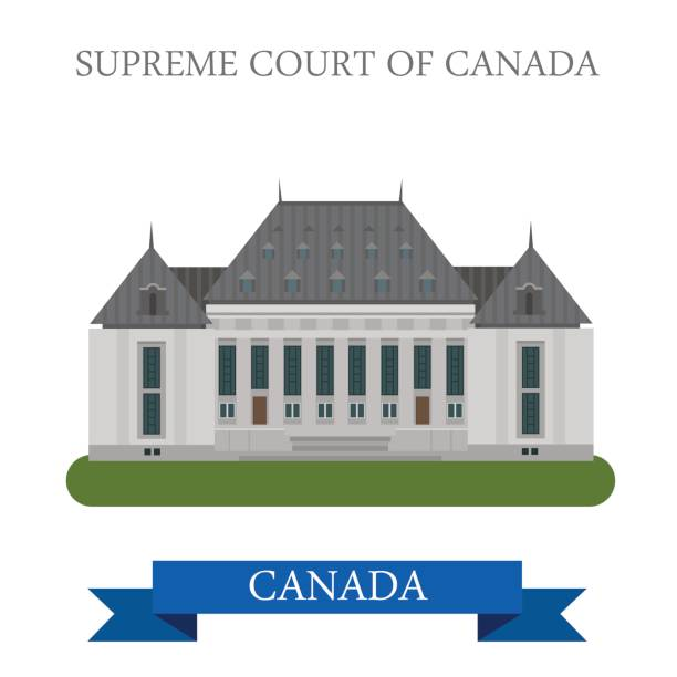 Supreme Court of Canada in Ottawa. Flat cartoon style historic sight showplace attraction web site vector illustration. World countries cities vacation travel sightseeing North America collection. Supreme Court of Canada in Ottawa. Flat cartoon style historic sight showplace attraction web site vector illustration. World countries cities vacation travel sightseeing North America collection. supreme court stock illustrations