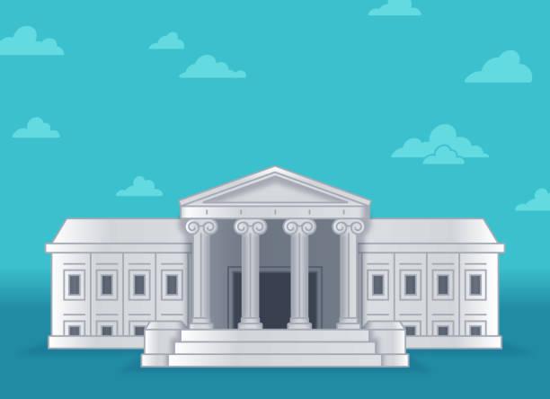 amerika birleşik devletleri yüksek mahkemesi - supreme court stock illustrations