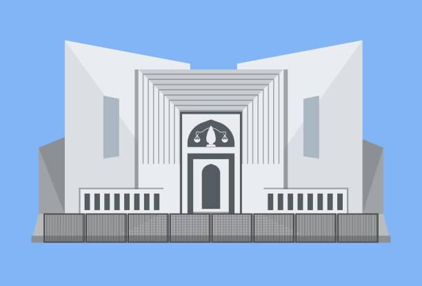 yargıtay - pakistan - supreme court stock illustrations