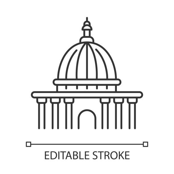 yüksek mahkeme piksel mükemmel doğrusal simge. yargı kurumu. devlet kurumu. adliye. i̇nce çizgi özelleştirilebilir illüstrasyon. kontur sembolü. vektör yalıtılmış anahat çizimi. kullanılabilir kontur - supreme court stock illustrations