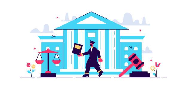 yargıtay vektör illüstrasyon. düz küçük - supreme court stock illustrations