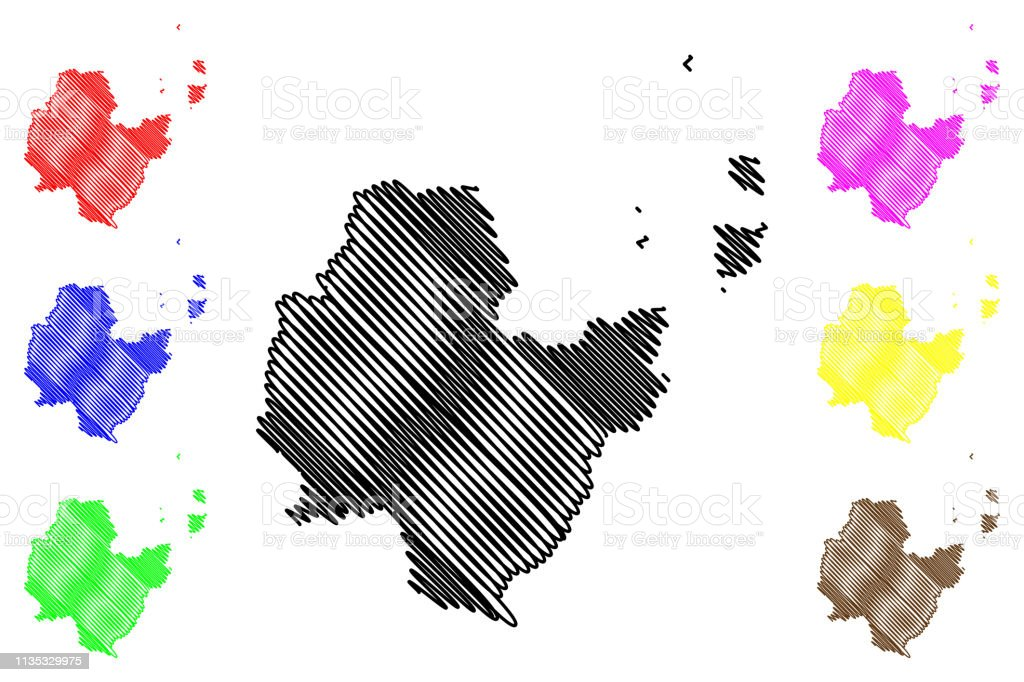 Surat Thani Province Map Vector Stock Illustration