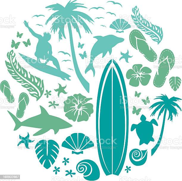 Surf and beach composition vector id165902667?b=1&k=6&m=165902667&s=612x612&h=b8kcf8wcwicr io et0hxnxcptk 6jm8dztfpxjrwcg=