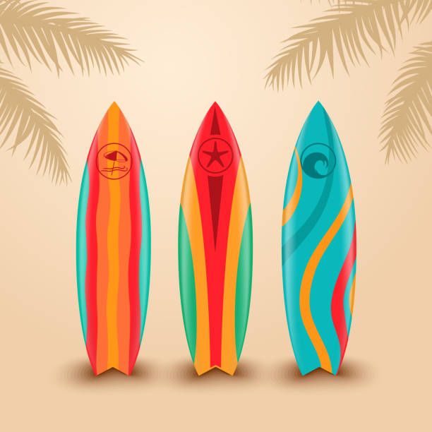 サーフボードに異なるデザイン - サーフィン点のイラスト素材/クリップアート素材/マンガ素材/アイコン素材