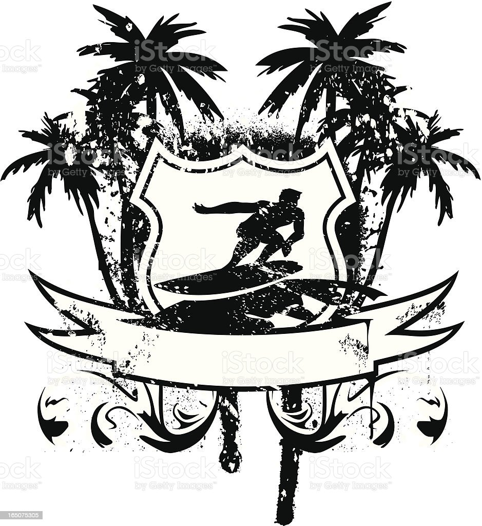 Surf emblem - riding royalty-free stock vector art