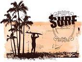 vintage surf banner