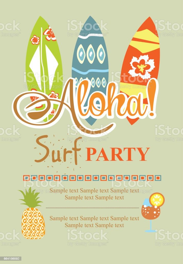 Surf party invitation card vetor e ilustrao royalty free 664156592 surf party invitation card vetor e ilustrao royalty free royalty free stopboris Gallery