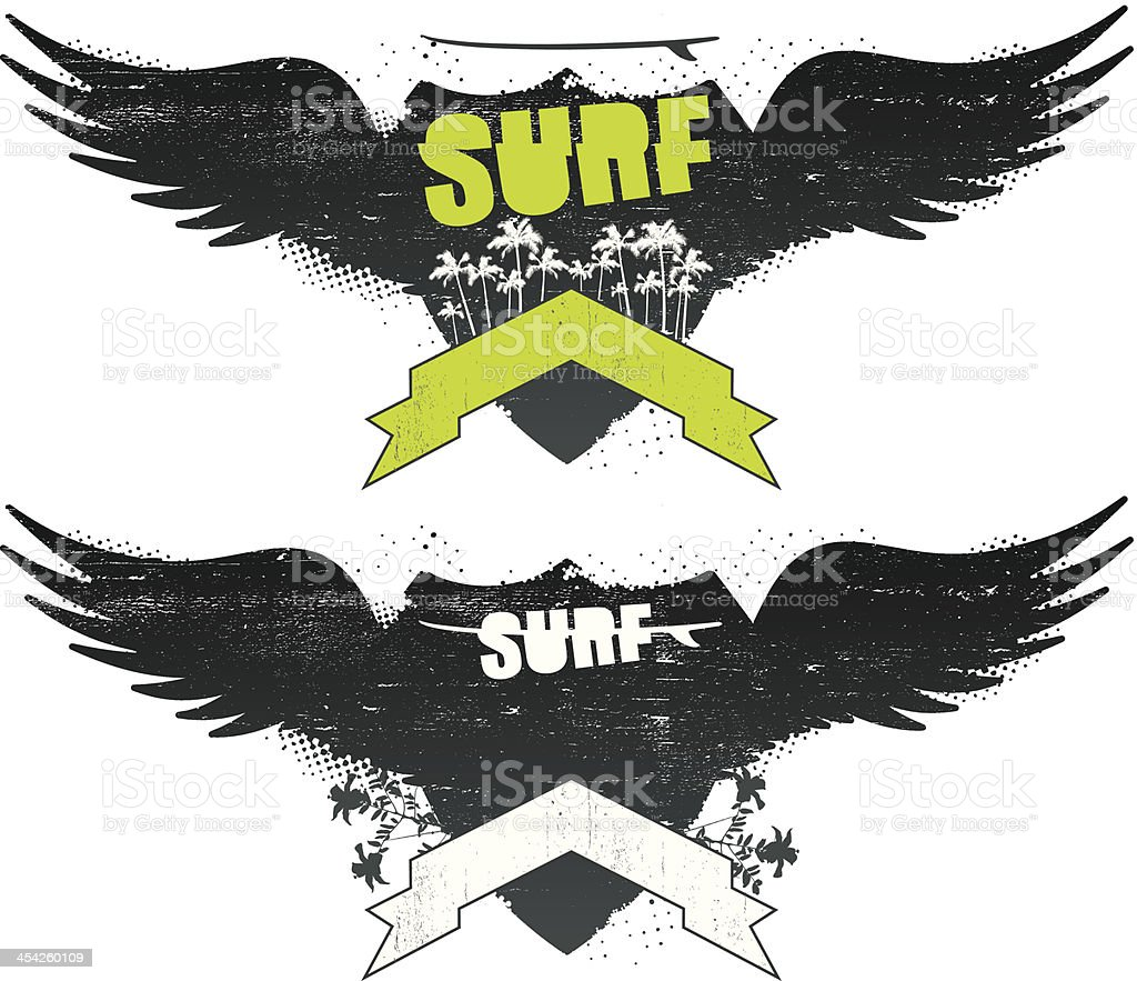 surf sign with palms and banner royalty-free surf sign with palms and banner stock vector art & more images of adventure